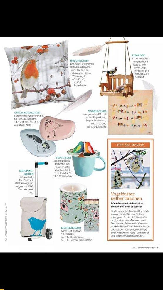 Laura Kreativ Wohnen; Magazine Germany 01-18