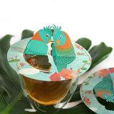 Tea Birds Steam Waverz. Theeaccessoire. tea moments, high tea uitnodiging, theebedankje