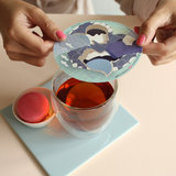 Steam-Waverz,Delfts Blue icon; Illustrated papergift for wonderful tea moments