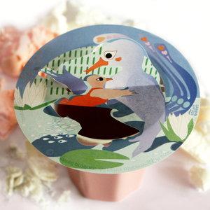 Steam Waverz Theekado, Moeders Bedankje, Thee vogel,Thee accessoire,Illustrated papergift. Tea Birds.