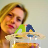 Tea Birds, gift, Steam Waverz. Theeaccessoire. tea moments, high tea uitnodiging, theebedankje